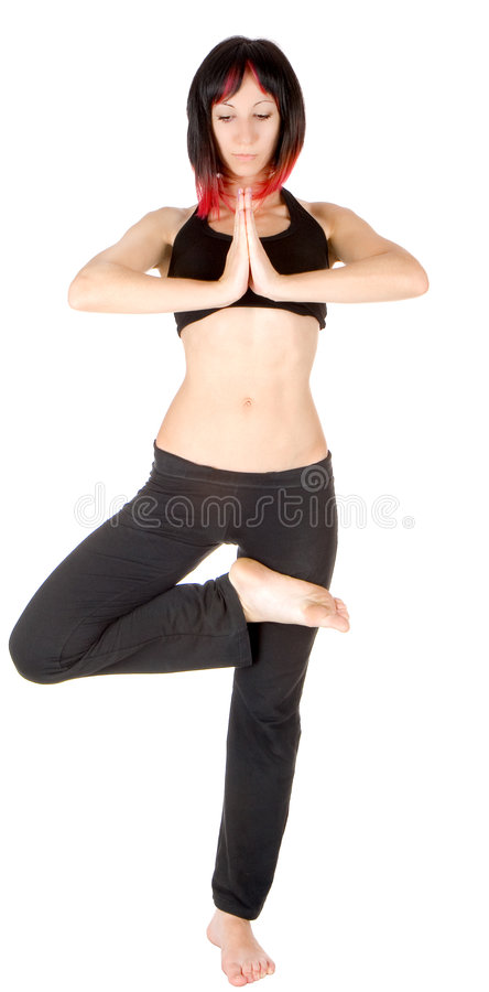 Free Young Woman Doing Floor Exercise Stock Photos - 6300893