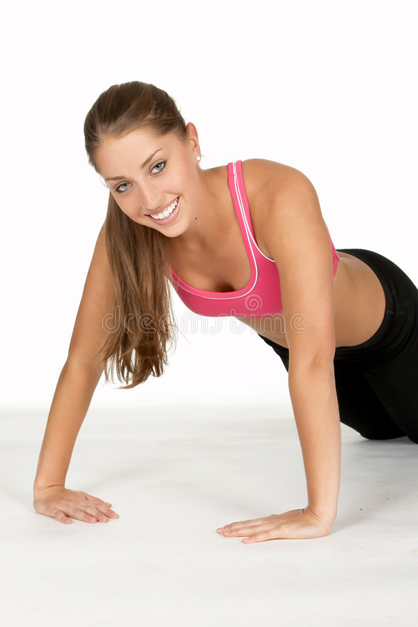 Download Young Woman Doing Inverted Pushup Stock Image - Image: 906805