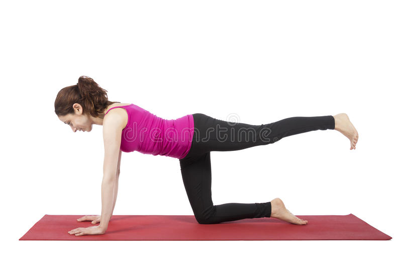 Young woman doing pilates royalty free stock photography