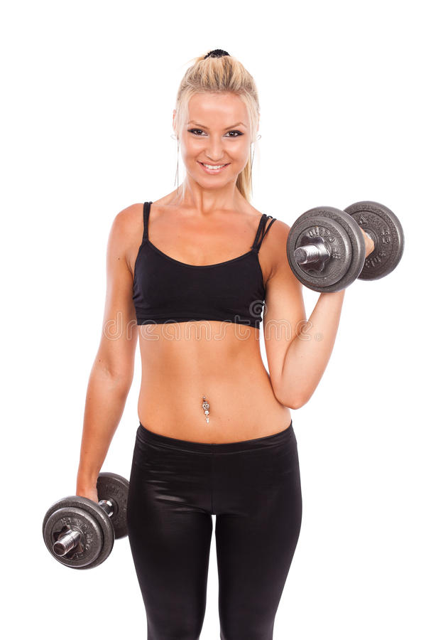 Download Young woman doing workout stock image. Image of exercise - 20825259