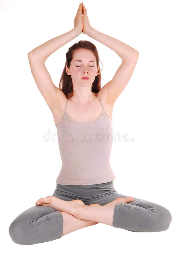 Download Young Woman Doing Yoga. Royalty Free Stock Images - Image: 10420629
