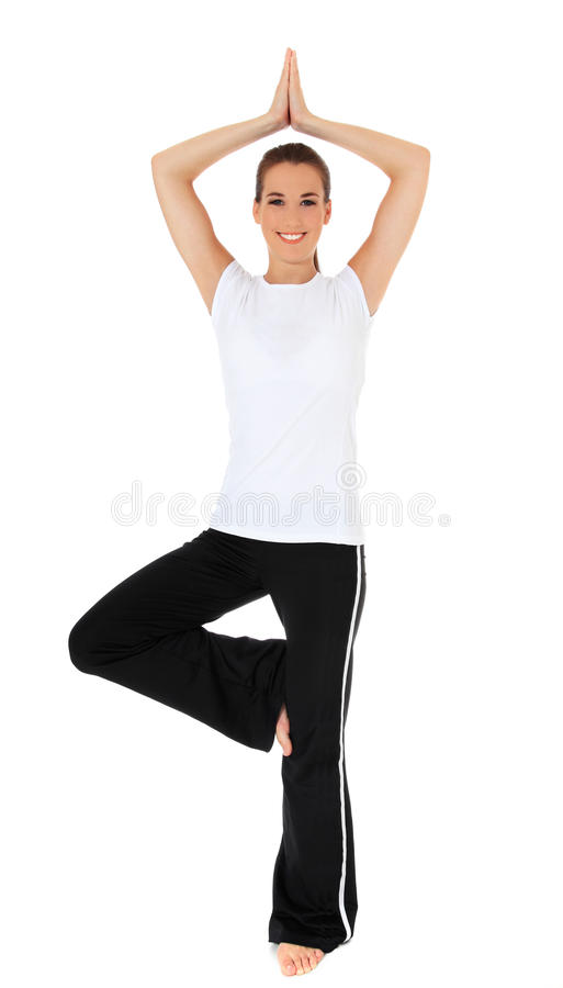 Download Young woman doing yoga stock photo. Image of active, casual - 22112436