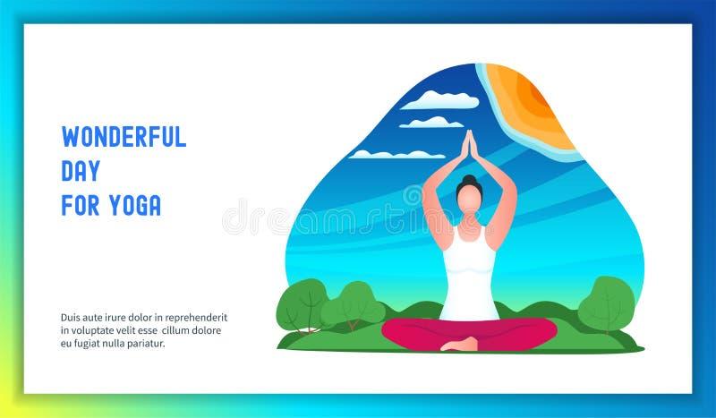 Young woman doing yoga vector illustration