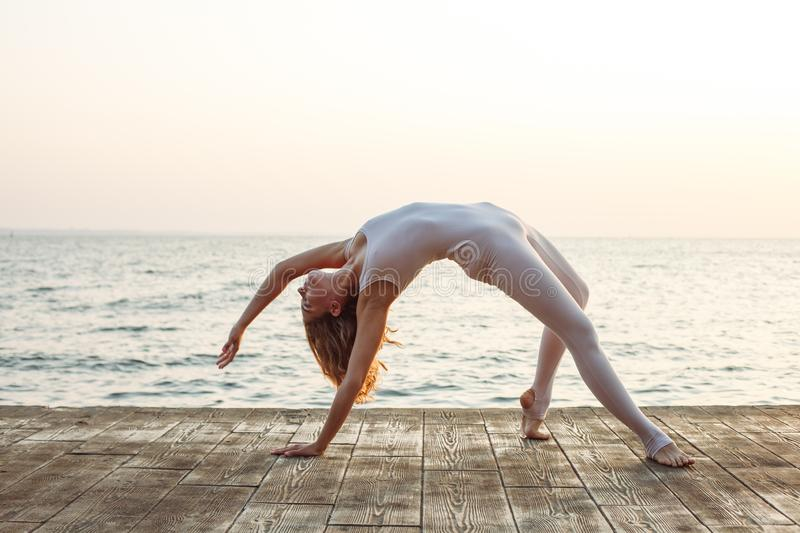 yoga and nature stock photography