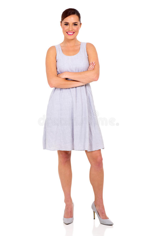 Young woman dress royalty free stock image