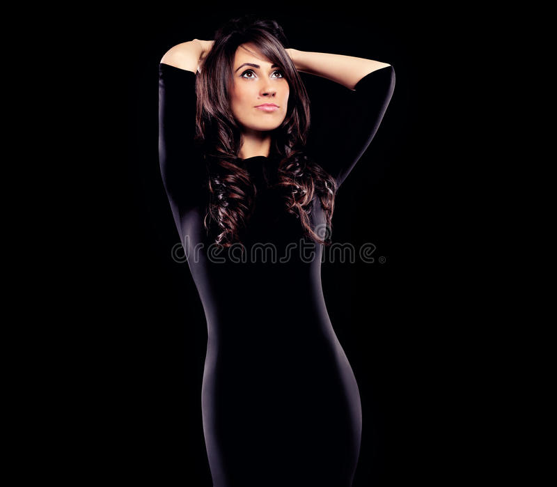 Young woman in dress royalty free stock photos