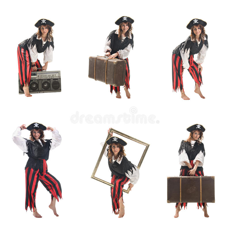 Download A Young Woman Dressed As A Pirate Stock Photo - Image: 16128280