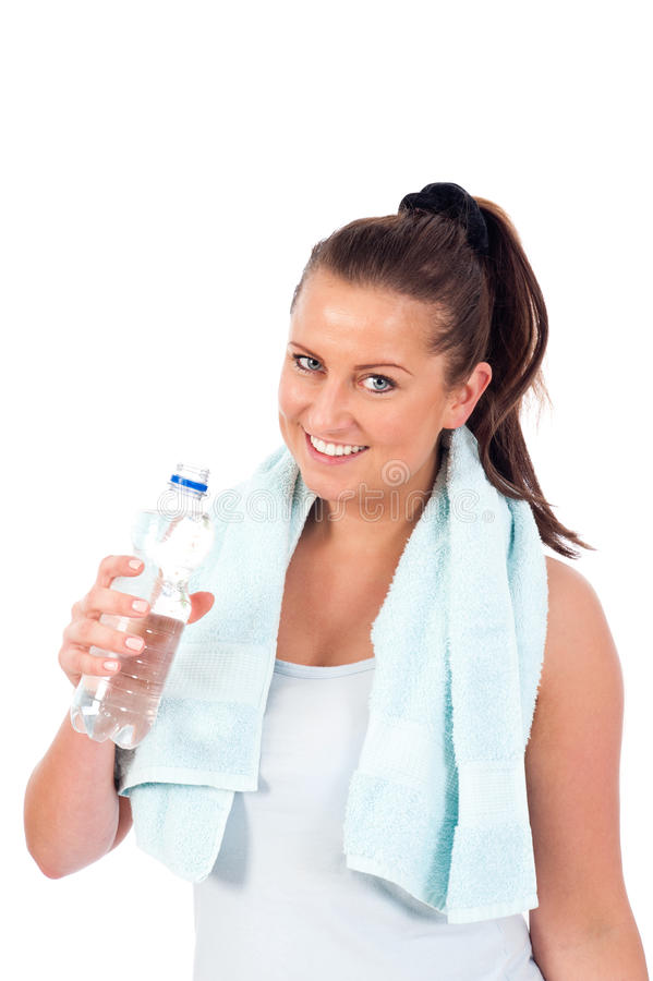 Young Woman Drinking Water Royalty Free Stock Image