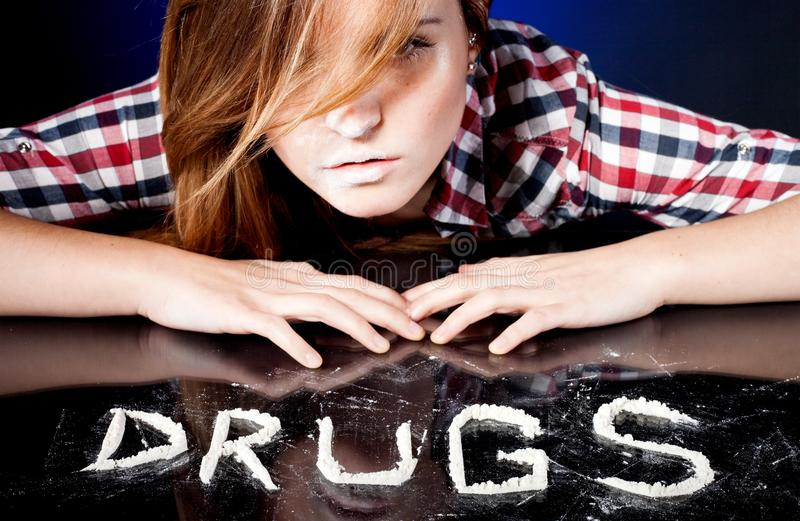 Download Young Woman With Drug Addiction Stock Image - Image of contemporary, crack: 29894591