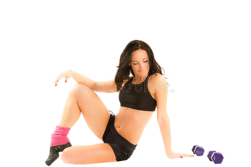 Download Young Woman With  Dumbbells Stock Image - Image: 22572333