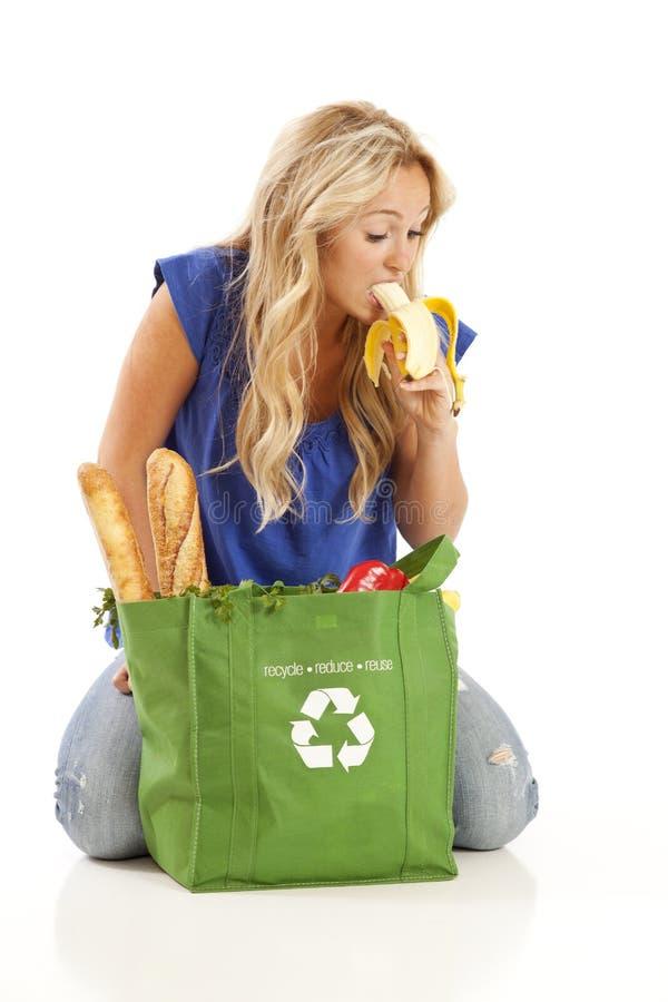 Free Young Woman Eating Banana Royalty Free Stock Photo - 15864545