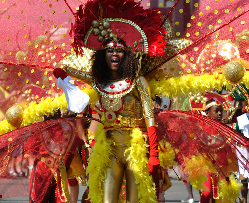 Download Young Woman At Edmonton's Cariwest Parade Editorial Stock Photo - Image of bright, party: 12352968