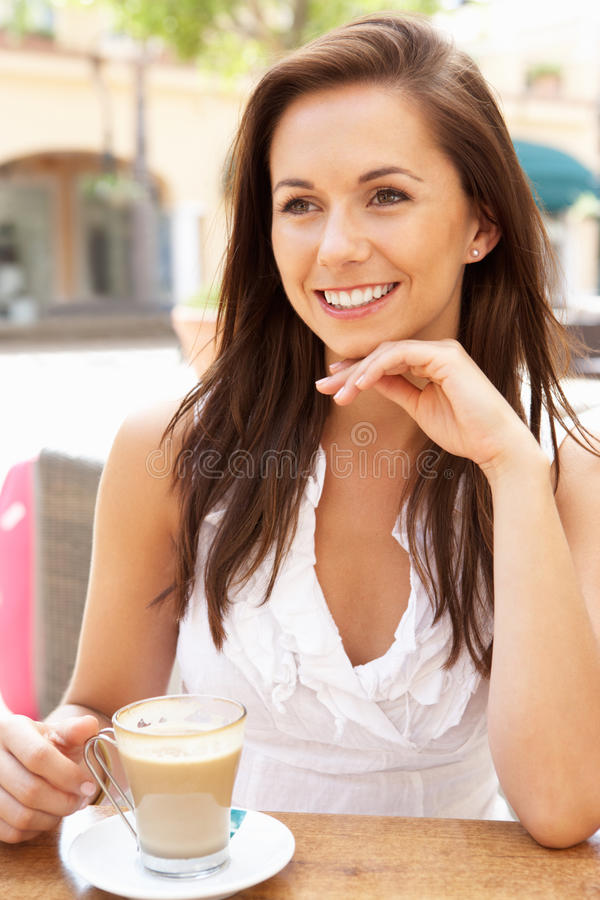 Download Young Woman Enjoying Cup Of Coffee Stock Images - Image: 16613314