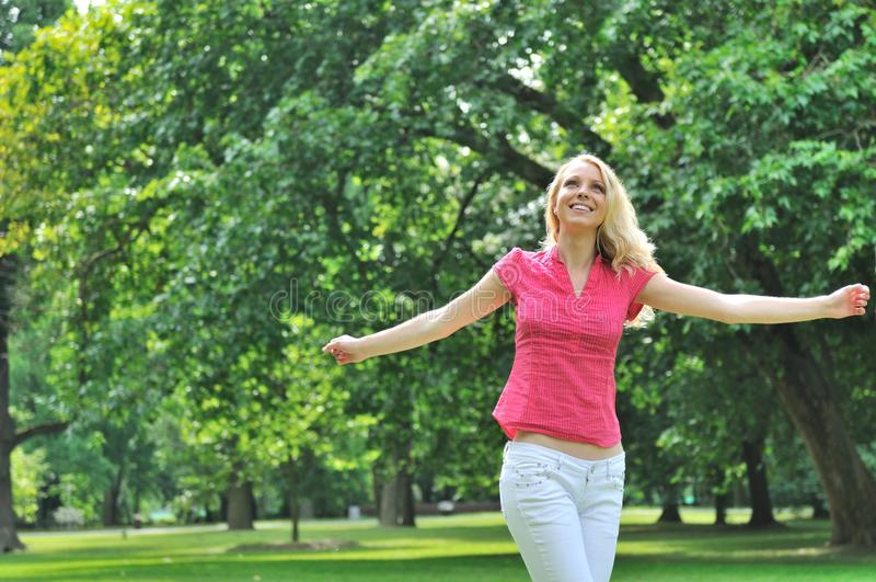 Download Young Woman Enjoying Outdoors Stock Image - Image: 10861587