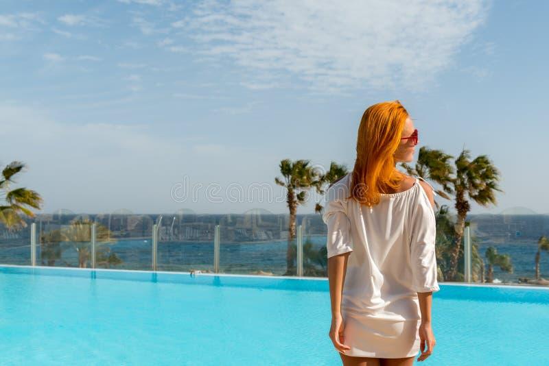 Young woman enjoying sun stock images