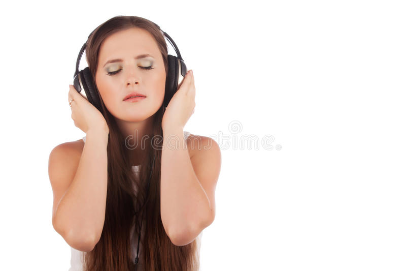 Young Woman Enjoyment Music In Headphones Stock Image