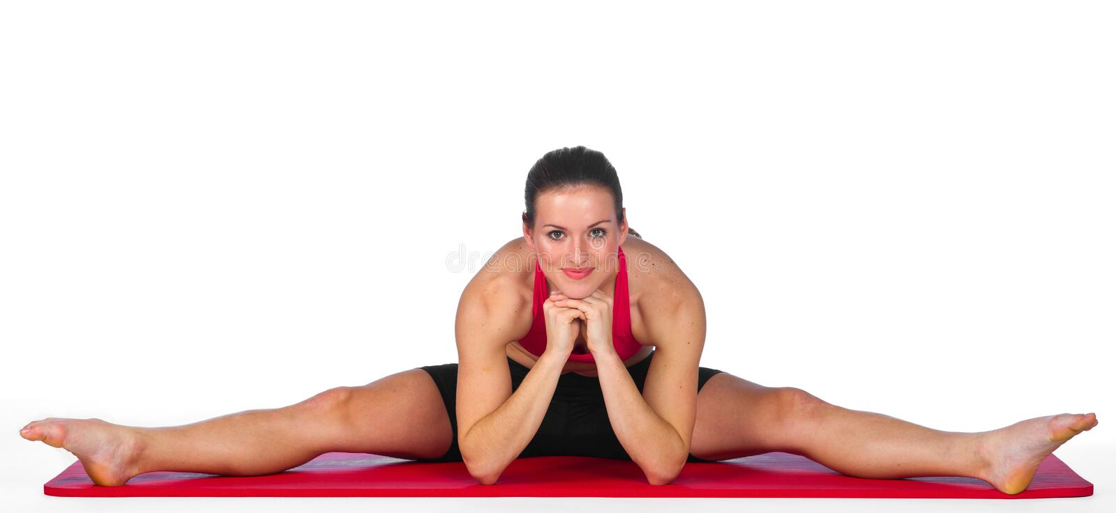 Young woman exercise stock photo