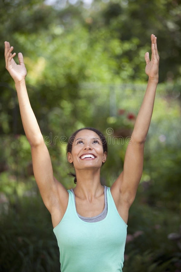 Download Young Woman Exercising stock photo. Image of latin, happy - 12093726