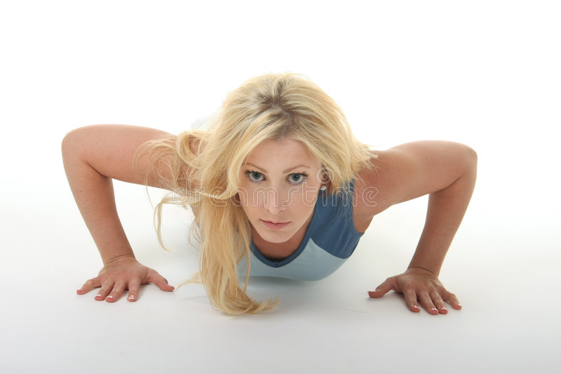 Download Young Woman Exercising stock photo. Image of blond, lifestyles - 5666344