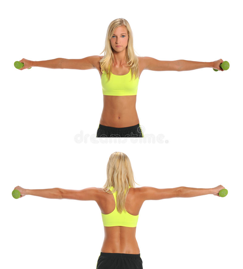 Download Young Woman Exercising With Dumbbells Stock Image - Image: 26902789