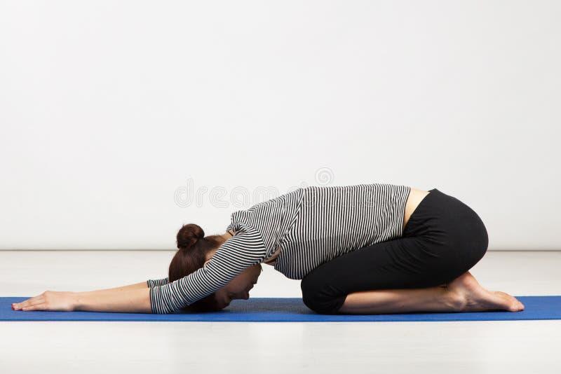 Young woman exercising yoga royalty free stock image