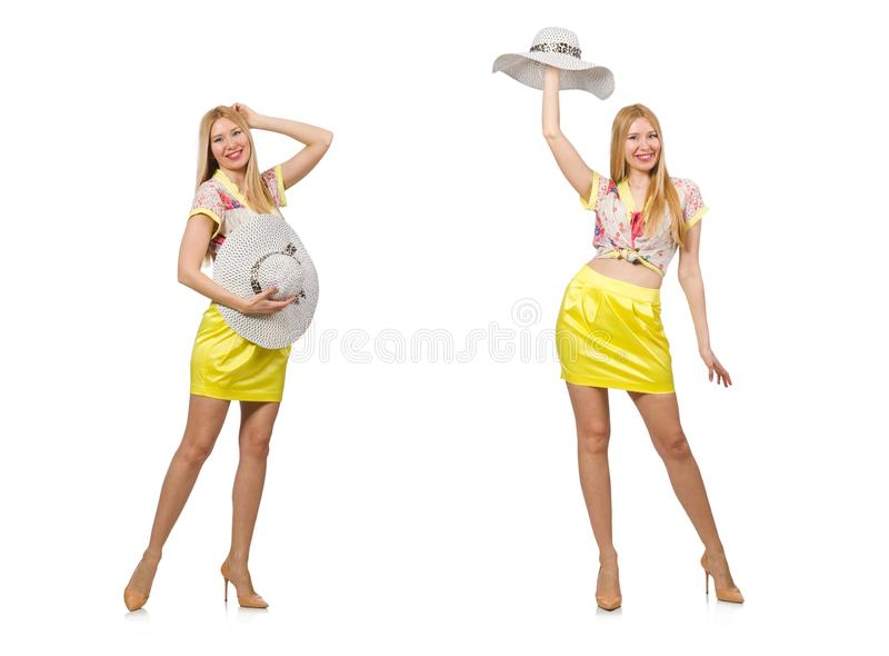 Young woman in fashion concept stock photography