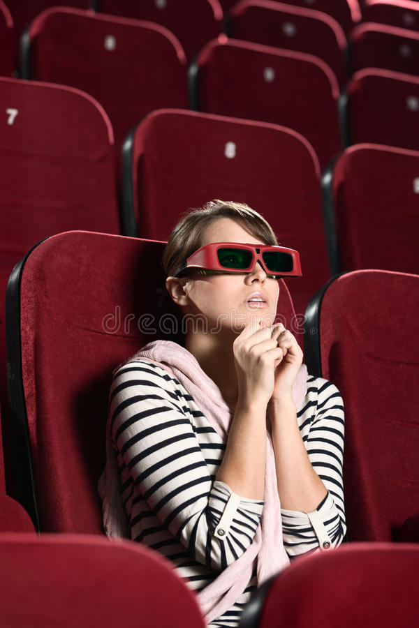 Download Young woman in fear stock photo. Image of cinema, films - 24842730