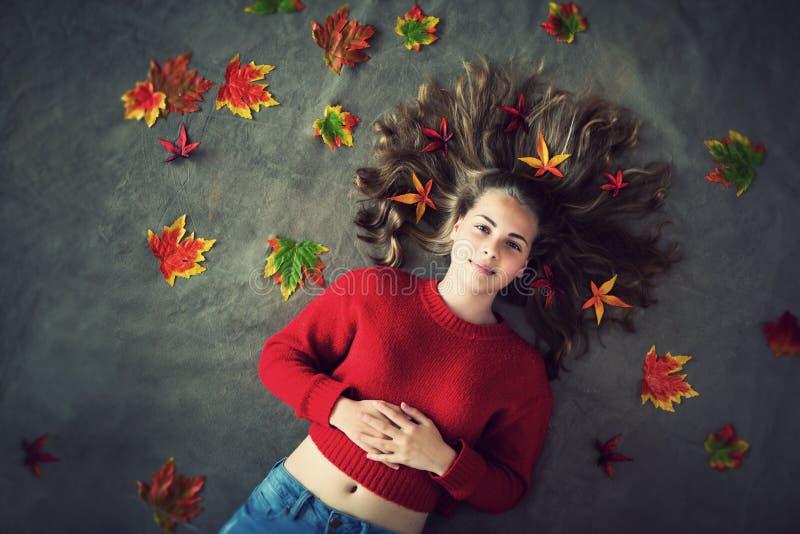 Autumn girl stock photos