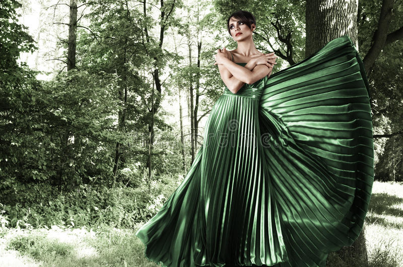 Download Young Woman In Forest Royalty Free Stock Photography - Image: 23445207