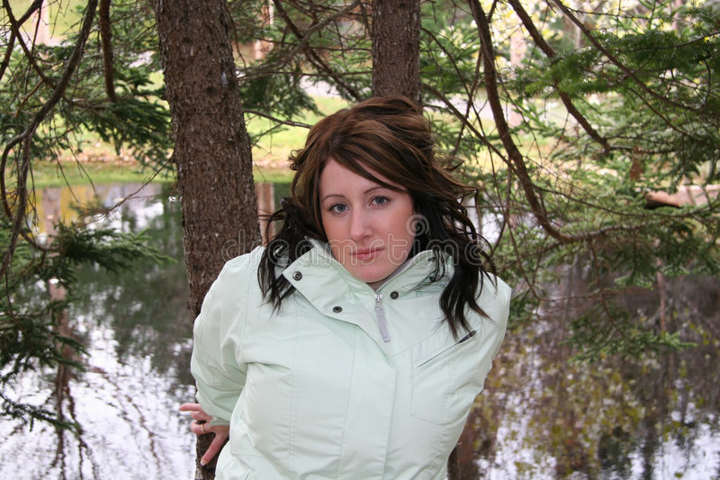 Download Young Woman In Forest Royalty Free Stock Photo - Image: 345235