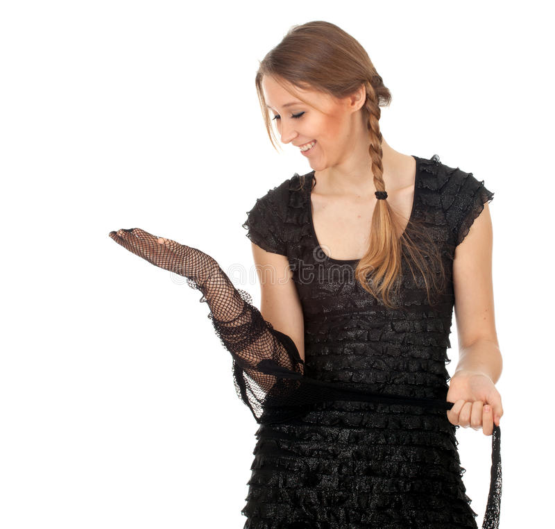 Download Young Woman Founds Tights Stock Image - Image: 21045991