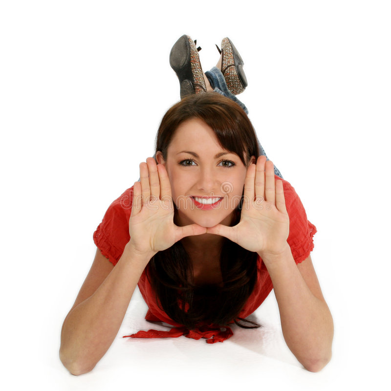 Free Young Woman Framing Face With Hands Royalty Free Stock Photography - 472907