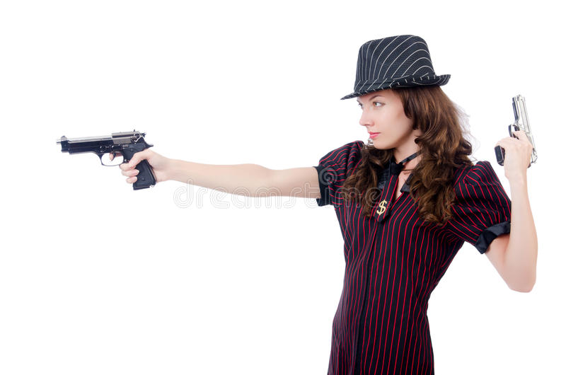 Young woman gangster