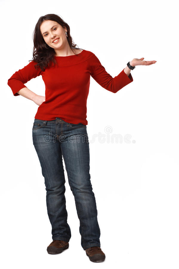Download Young Woman Gesturing Royalty Free Stock Photos - Image: 13354668