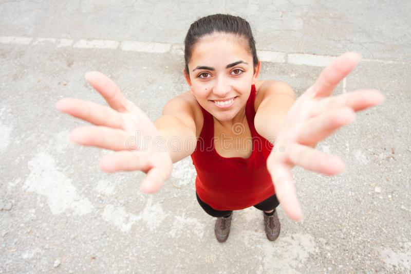 Download Young woman gesturing stock photo. Image of health, smile - 25019316