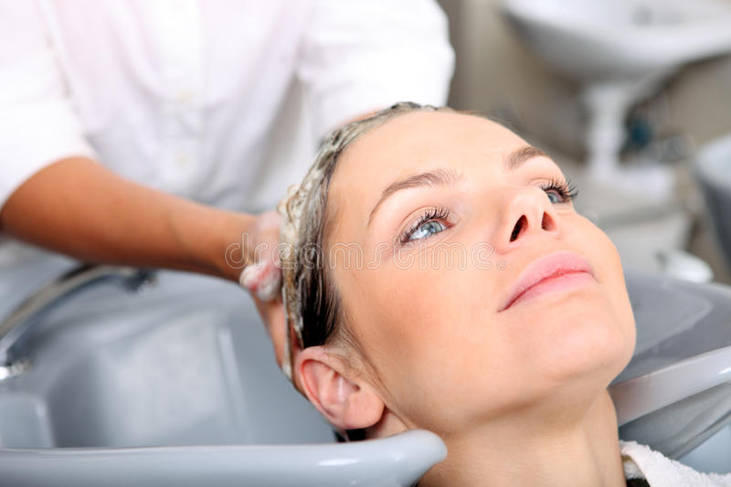 Download Young Woman Gets A Hairdo In The Beauty- Stock Photo - Image: 9883706