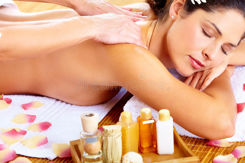 Download Young Woman Getting Massage In Spa Salon. Stock Image - Image: 32541717