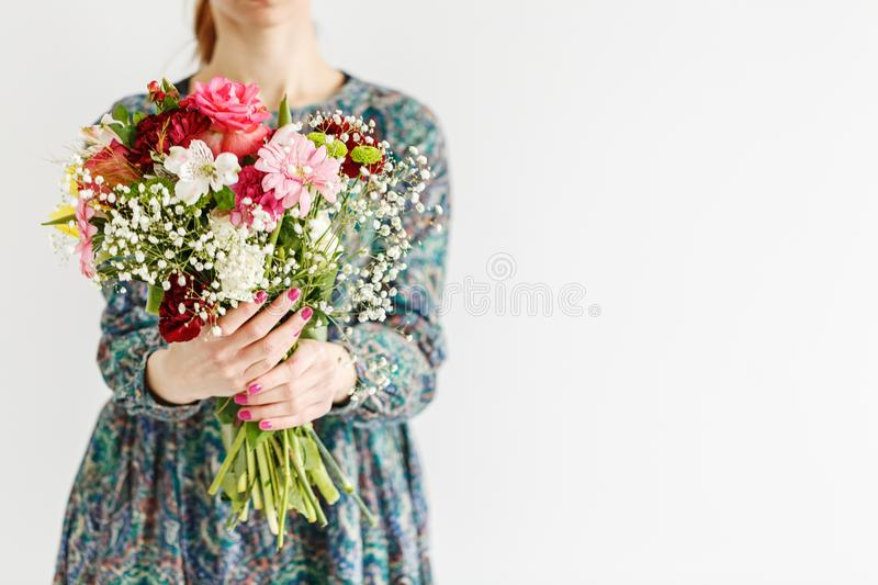 Fresh flowers for mother`s day royalty free stock photo