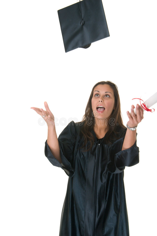 Download Young Woman Graduate Receives Stock Photo - Image: 2642376