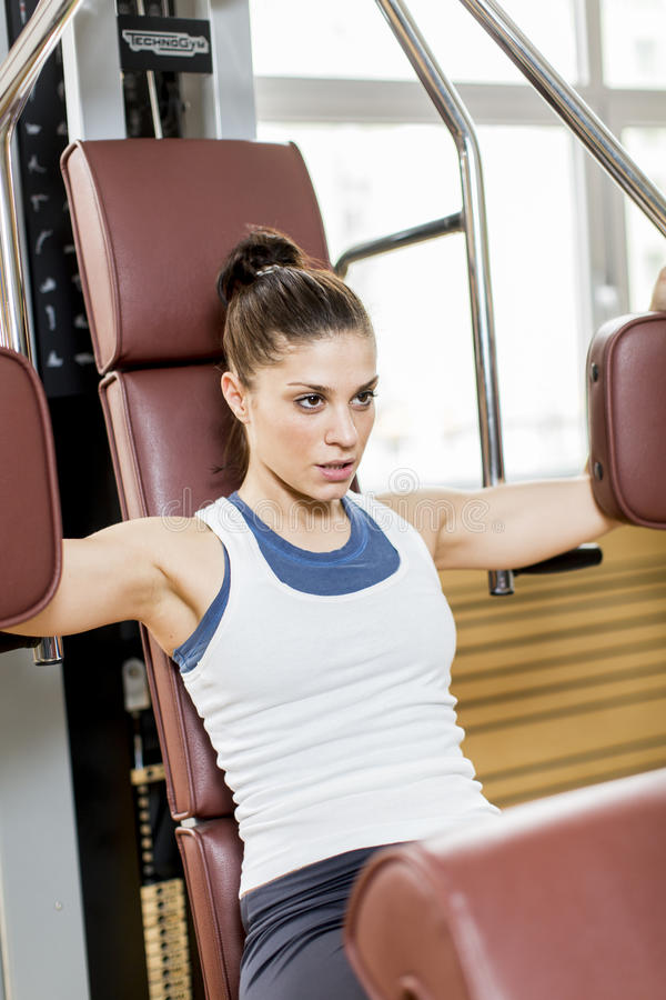 Download Young woman in the gym stock photo. Image of gymnastics - 29477768