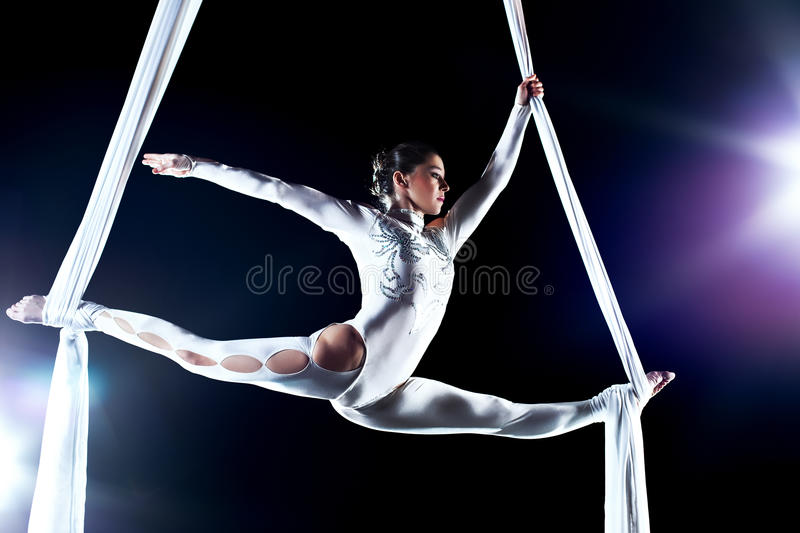 Download Young woman gymnast stock photo. Image of lights, slim - 18008510