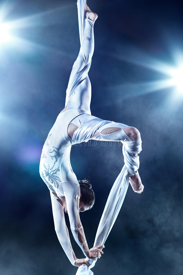 Young woman gymnast stock images