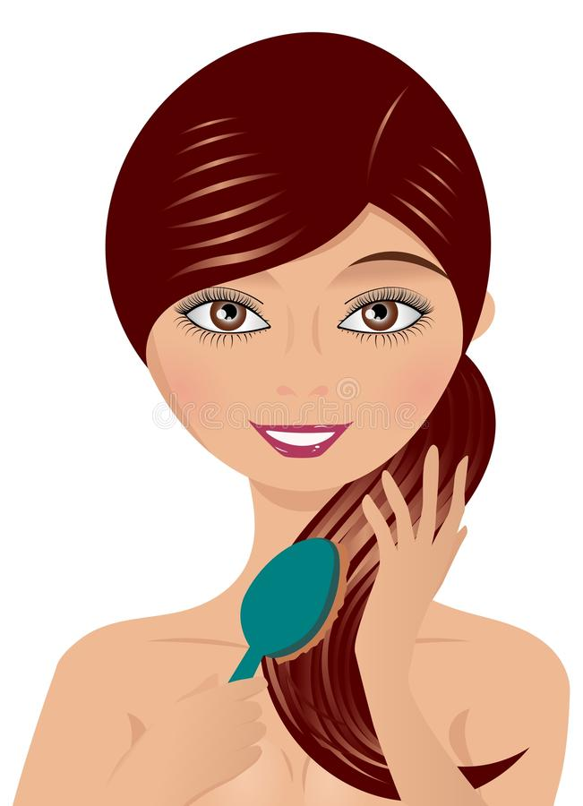 Download Young Woman with Hairbrush stock vector. Illustration of attractive - 22978904