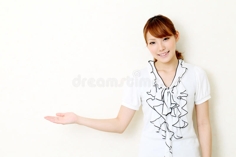 Download Young Woman Hand Showing Blank Sign Stock Photo - Image: 20065280