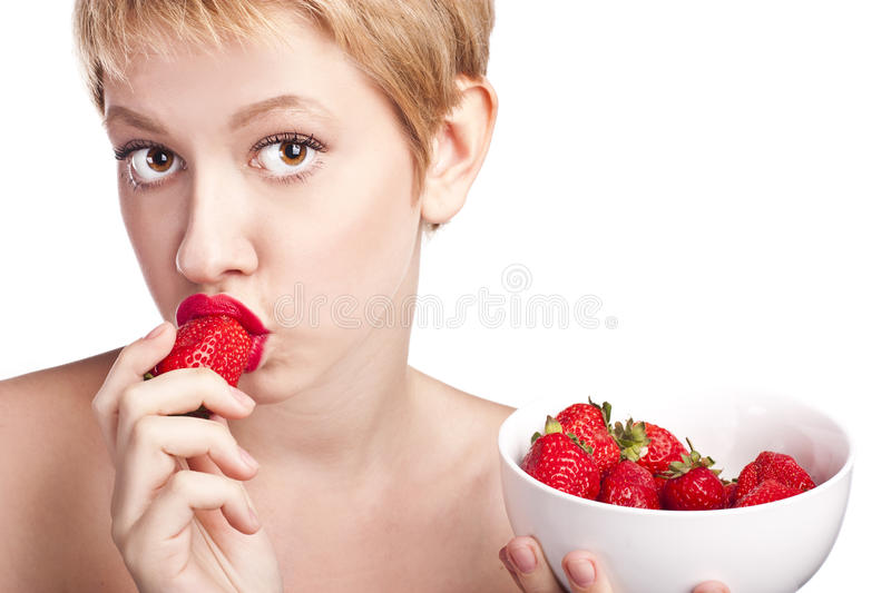 Young woman in the hands of healthy food