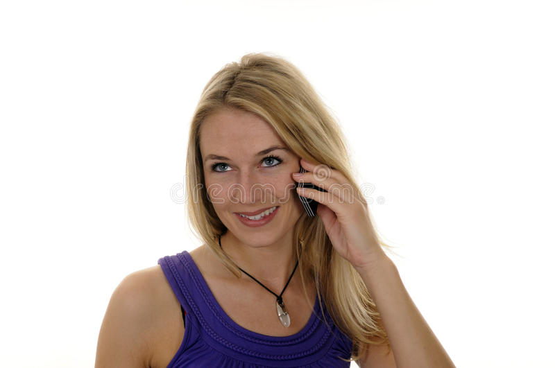 Young Woman With Handy Stock Photos