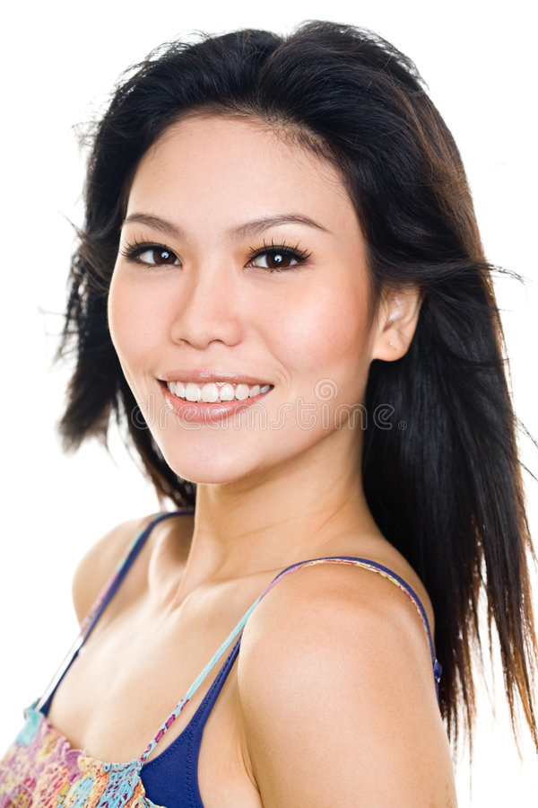 Download Young Woman Happy Face Expression Stock Image - Image of happy, asian: 8169413