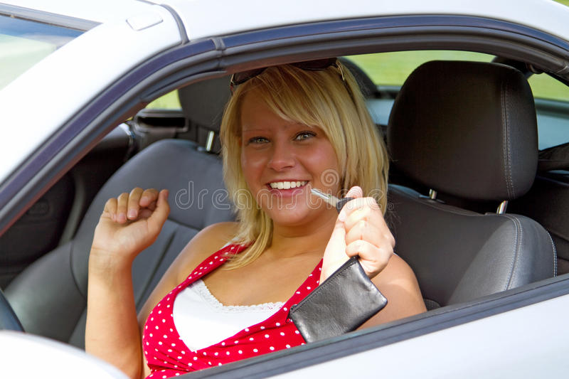 Download Young Woman Happy About Her New Drivers License Royalty Free Stock Photos - Image: 23116168