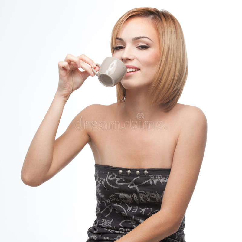 Free Young Woman Having A Sip Of Coffee Stock Photo - 16717950