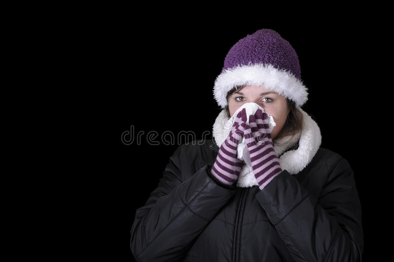 Download Young Woman Having Blowing Her Nose Stock Image - Image: 16801669